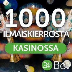 24hbet 1000 ilmaiskierrosta