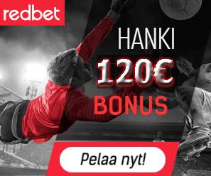 Redbet 120 bonus on ylikerroin