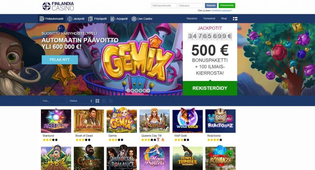Finlandia Casino pelit