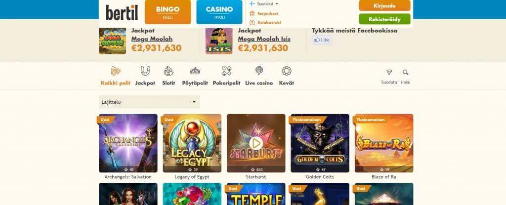 Bertil Casino pelit