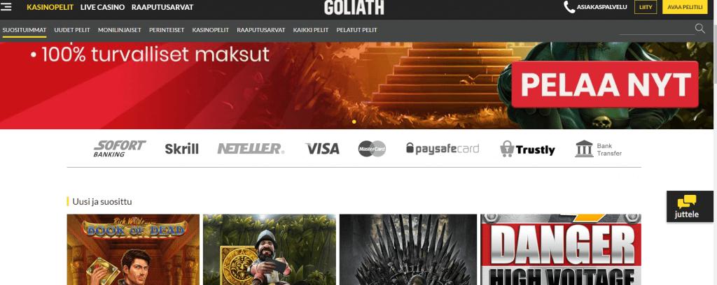 Goliath Casino pelit
