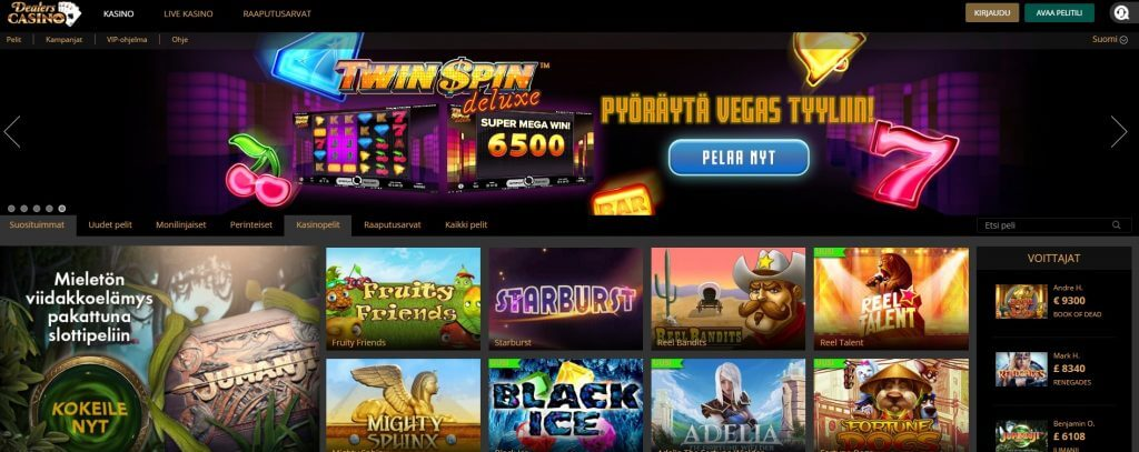 Dealers Casino pelit