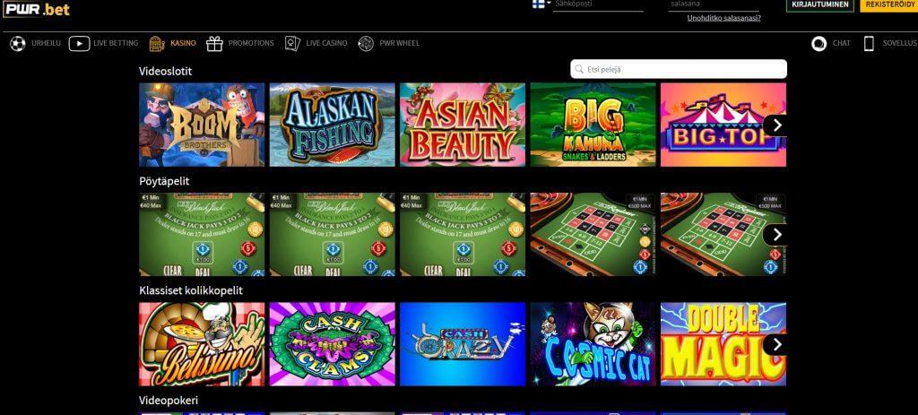 PWR.bet Casino pelit