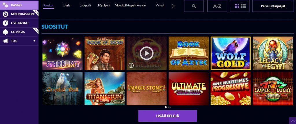 Wild Jackpots Casino pelit