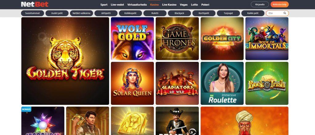 NetBet Casino pelit
