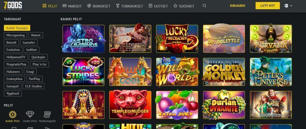 7 Gods Casino pelit